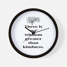 WISDOM GREATER THAN KINDNESS (TREE) Wall Clock