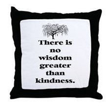 WISDOM GREATER THAN KINDNESS (TREE) Throw Pillow