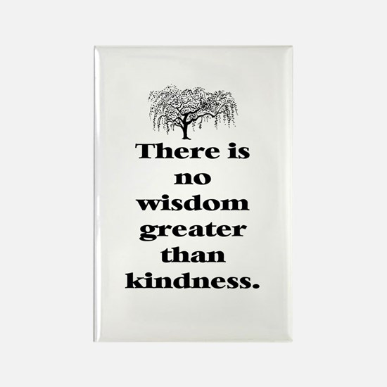 WISDOM GREATER THAN KINDNESS (TREE) Rectangle Magn