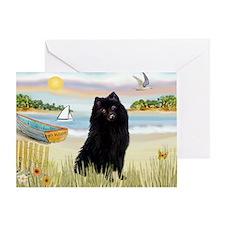 Rowboat / Schipperke Greeting Card