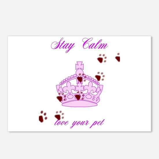 Stay Calm And Love Your P Postcards (Package of 8)