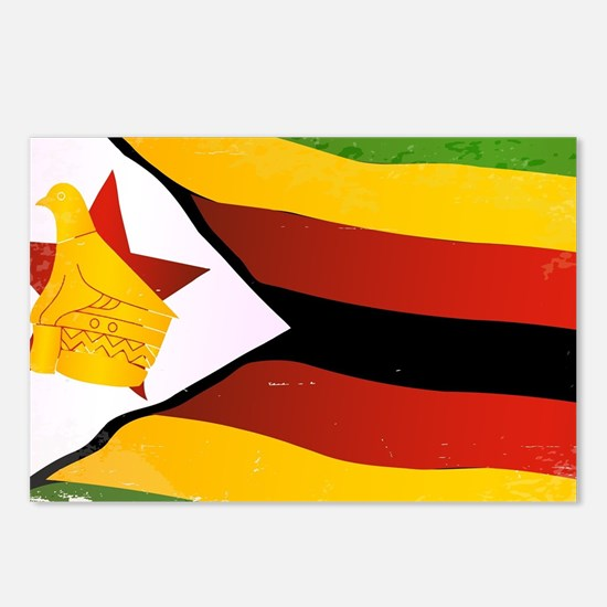 Cute Zimbabwe flag Postcards (Package of 8)