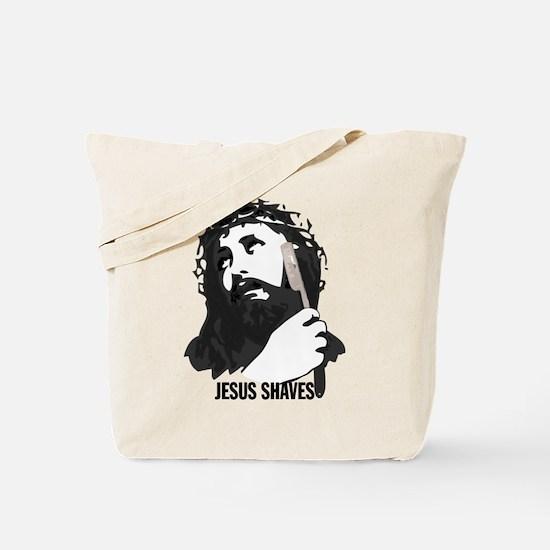 Jesus Shaves Tote Bag