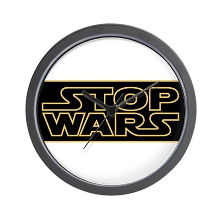 Stop Wars Wall Clock