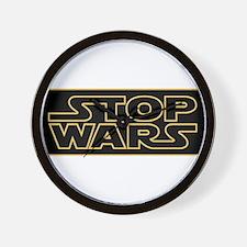 Stop Wars Wall Clock