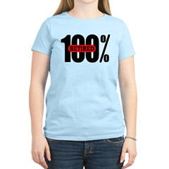 Women's 100 Percent Retired T-Shirt Light Colored