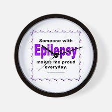 Epilepsy Pride Wall Clock