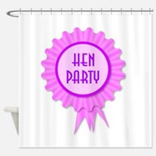 Hen Party Rosette Shower Curtain