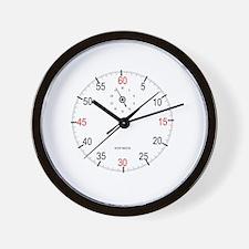Cute Stop watch Wall Clock