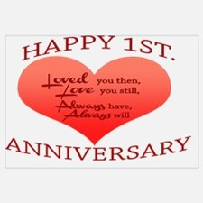 Cute First anniversary Wall Art
