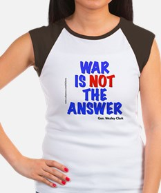 """War No Answer"" Women's Cap Sleeve T-Shirt"
