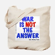 """War No Answer"" Tote Bag"