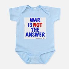 """""""War No Answer"""" Onesie"""