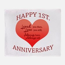 1st. Anniversary Throw Blanket