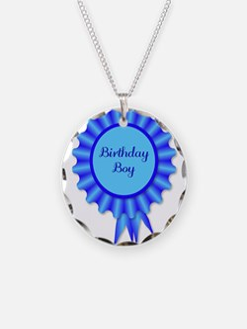 Birthday Boy Rosette Necklace