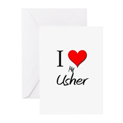 I Love My Usher Greeting Cards (Pk of 10)