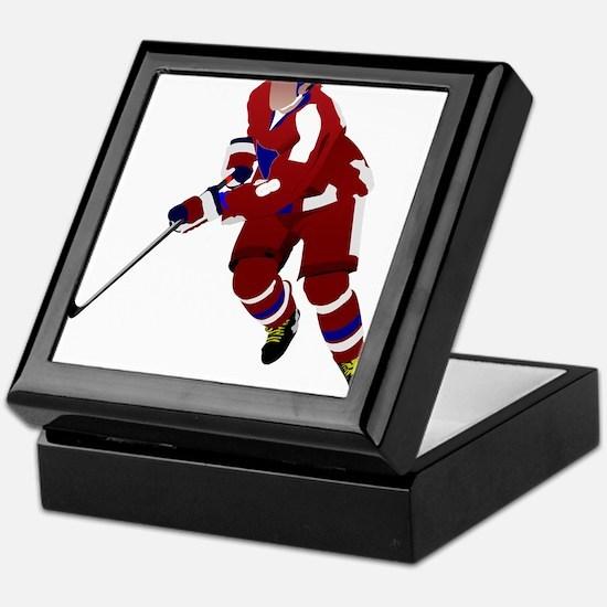 Ice hockey player Keepsake Box