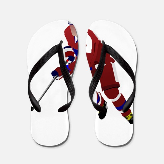 Ice hockey player Flip Flops