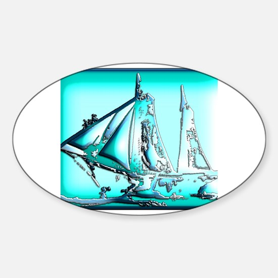 Cool Americas cup sailing Sticker (Oval)