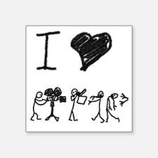 I Heart Zombie Movies Sticker