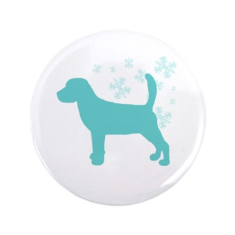 "Beagle Snowflake 3.5"" Button"