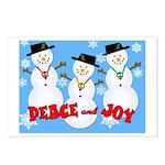 Peace & Joy Snowmen Postcards (Package of 8)