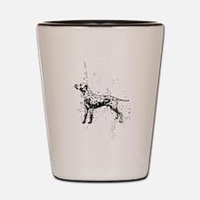 Dalmatian dog art Shot Glass