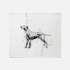 Dalmatian dog art Throw Blanket