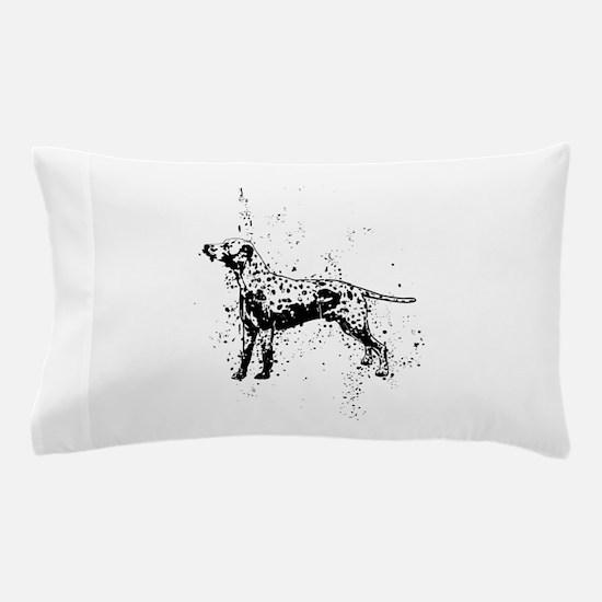 Dalmatian dog art Pillow Case