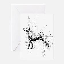 Dalmatian dog art Greeting Cards