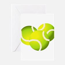 Tennis balls art Greeting Cards