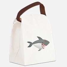 Sea animal shark cartoon Canvas Lunch Bag