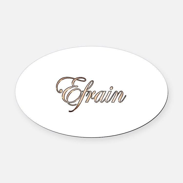 Cute Efrain Oval Car Magnet