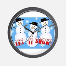 Let it Snow Wall Clock