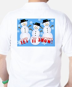 Let it Snow Golf Shirt