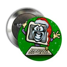 "Cute Holiday party 2.25"" Button (10 pack)"