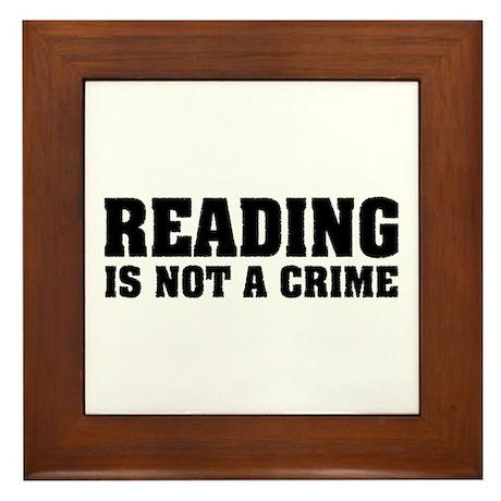 Reading is Not a Crime Framed Tile