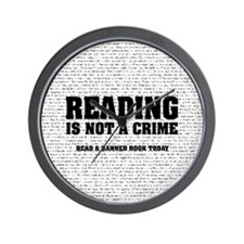 Reading is Not a Crime Wall Clock