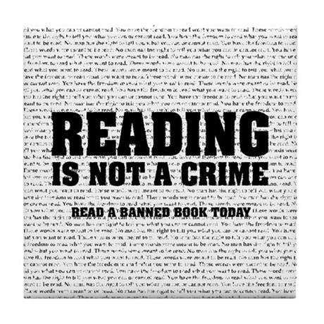 Reading is Not a Crime Tile Coaster