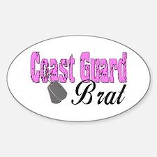 Coast Guard Brat Oval Decal