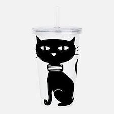Halloween design cat Acrylic Double-wall Tumbler