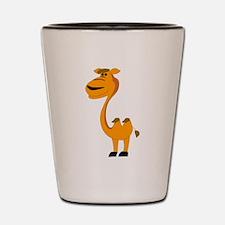 Yellow camel cartoon Shot Glass
