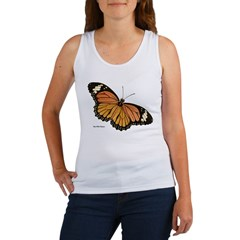 Orange Black Butterfly Women's Tank Top
