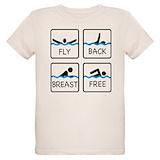 Swimming Organic Kids T-Shirt