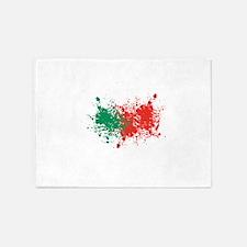 Portugal national flag 5'x7'Area Rug