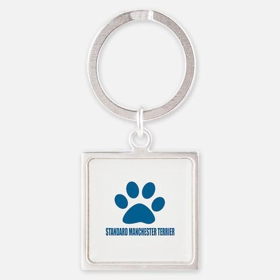 Standard Manchester Terrier Dog De Square Keychain