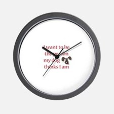 I Want to be the Person Wall Clock