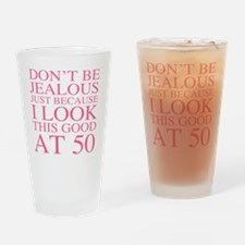 Unique 50th gag women Drinking Glass