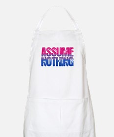 Bisexual Assume Nothing Apron