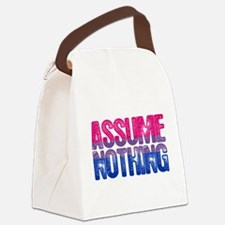 Bisexual Assume Nothing Canvas Lunch Bag